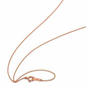 ネックレス チェーン 18金 ピンクゴールド 小豆チェーン 幅1.0mm 長さ90cm|鎖 K18PG 18k 貴金属 ジュエリー レディース メンズ