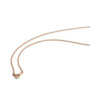 ネックレス チェーン 18金 ピンクゴールド 小豆チェーン 幅1.3mm 長さ55cm|鎖 K18PG 18k 貴金属 ジュエリー レディース メンズ