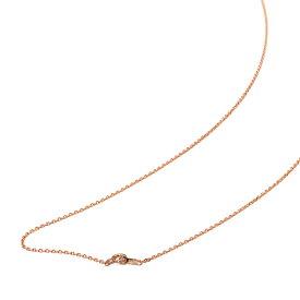 ネックレス チェーン 18金 ピンクゴールド 4面カット小豆チェーン 幅1.2mm 長さ60cm|鎖 K18PG 18k 貴金属 ジュエリー レディース メンズ