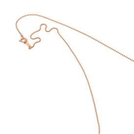ネックレス チェーン 18金 ピンクゴールド ボールチェーン 幅1.0mm 長さ55cm|鎖 K18PG 18k 貴金属 ジュエリー レディース メンズ
