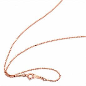ネックレス チェーン 18金 ピンクゴールド カットボールチェーン 幅1.0mm 長さ55cm|鎖 K18PG 18k 貴金属 ジュエリー レディース メンズ
