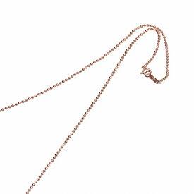 ネックレス チェーン 18金 ピンクゴールド ボールチェーン 幅1.5mm 長さ55cm|鎖 K18PG 18k 貴金属 ジュエリー レディース メンズ
