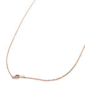 ネックレス チェーン 18金 ピンクゴールド スクリューチェーン 幅1.0mm 長さ55cm|鎖 K18PG 18k 貴金属 ジュエリー レディース メンズ