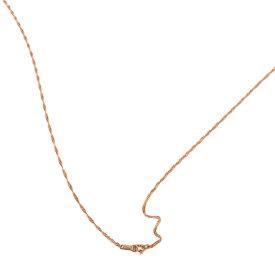 ネックレス チェーン 18金 ピンクゴールド スクリューチェーン 幅1.3mm 長さ50cm|鎖 K18PG 18k 貴金属 ジュエリー レディース メンズ