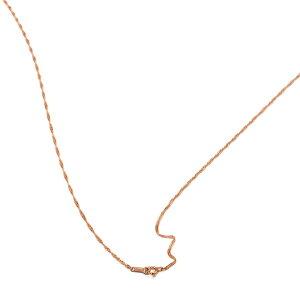 ネックレス チェーン 18金 ピンクゴールド スクリューチェーン 幅1.3mm 長さ70cm|鎖 K18PG 18k 貴金属 ジュエリー レディース メンズ