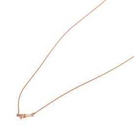 ネックレス チェーン 18金 ピンクゴールド ベネチアンチェーン 幅0.7mm 長さ55cm|鎖 K18PG 18k 貴金属 ジュエリー レディース メンズ