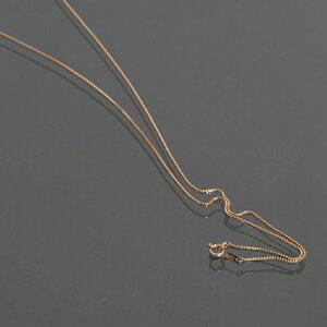 ネックレス チェーン 18金 ピンクゴールド ベネチアンチェーン 幅0.8mm 長さ55cm|鎖 K18PG 18k 貴金属 ジュエリー レディース メンズ
