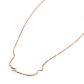 ネックレス チェーン 18金 ピンクゴールド ベネチアンチェーン 幅1.0mm 長さ55cm|鎖 K18PG 18k 貴金属 ジュエリー レディース メンズ