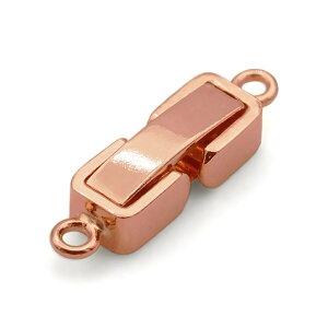【1個売り】 留め具 18金 ピンクゴールド 中折れ式留具 丸カン付き 縦13.0mm 横3.0mm クラスプ|手芸用品 金具 飾り パーツ 部品 K18PG 18k 貴金属