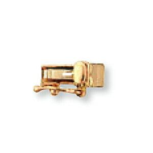 【1個売り】 留め具 18金 ピンクゴールド 差し込み式クラスプ セーフティー付き 縦8.5mm 横3.0mm|手芸用品 金具 飾り パーツ 部品 K18PG 18k 貴金属