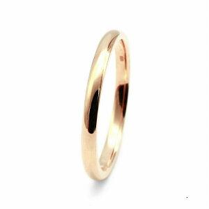 指輪 18金 ピンクゴールド 甲丸リング 幅2.0mm ピンキーリングもございます 地金リング K18PG 18k 貴金属 ジュエリー レディース メンズ