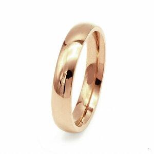 指輪 18金 ピンクゴールド 甲丸リング 幅4.0mm ピンキーリングもございます 地金リング K18PG 18k 貴金属 ジュエリー レディース メンズ