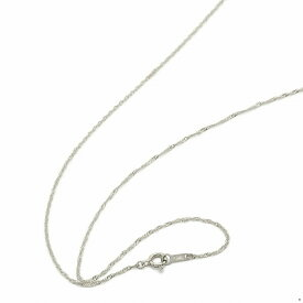ネックレス チェーン 18金 ホワイトゴールド スクリューチェーン 幅1.2mm 長さ60cm|鎖 K18WG 18k 貴金属 ジュエリー レディース メンズ