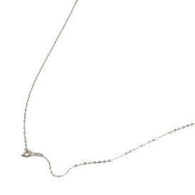 ネックレス チェーン 18金 ホワイトゴールド 小判みたいなチェーン 幅1.1mm 長さ60cm|鎖 K18WG 18k 貴金属 ジュエリー レディース メンズ