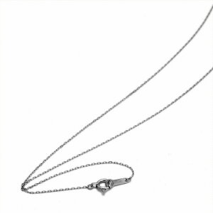 ネックレス チェーン 18金 ホワイトゴールド 4面カット小豆チェーン 幅0.7mm 長さ60cm|鎖 K18WG 18k 貴金属 ジュエリー レディース メンズ