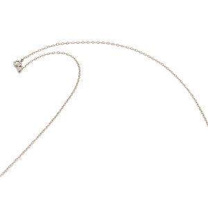 ネックレス チェーン 18金 ホワイトゴールド 荒小豆チェーン 幅1.3mm 長さ60cm|鎖 K18WG 18k 貴金属 ジュエリー レディース メンズ