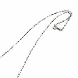 ネックレス チェーン 18金 ホワイトゴールド 4面カット小豆チェーン 幅0.8mm 長さ60cm|鎖 K18WG 18k 貴金属 ジュエリー レディース メンズ