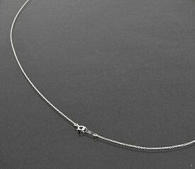ネックレス チェーン 18金 ホワイトゴールド 小豆チェーン 幅1.1mm 長さ60cm|鎖 K18WG 18k 貴金属 ジュエリー レディース メンズ