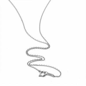 ネックレス チェーン 18金 ホワイトゴールド 4面カット小豆チェーン 幅1.1mm 長さ38cm 鎖 K18WG 18k 貴金属 ジュエリー レディース メンズ