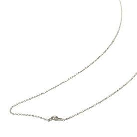 ネックレス チェーン 18金 ホワイトゴールド 4面カット小豆チェーン 幅1.2mm 長さ60cm|鎖 K18WG 18k 貴金属 ジュエリー レディース メンズ