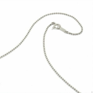 ネックレス チェーン 18金 ホワイトゴールド カットボールチェーン 幅1.2mm 長さ60cm|鎖 K18WG 18k 貴金属 ジュエリー レディース メンズ