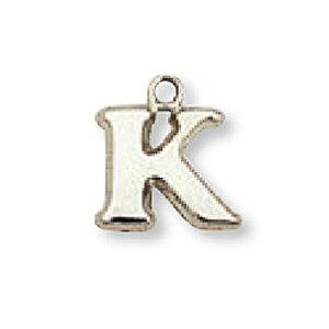 【1個売り】 チャームパーツ 18金 ホワイトゴールド K イニシャルチャーム Sサイズ 中空タイプ 縦8.5mm 横9.5mm アルファベット 文字|手芸用品 金具 飾り パーツ 部品 K18WG 18k 貴金属