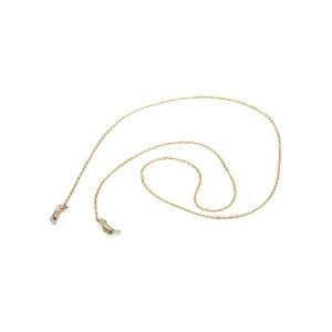 メガネチェーン 18金 イエローゴールド フラット荒小豆チェーン 筒型 幅1.8mm 長さ70cm|眼鏡 めがね用品 鎖 K18YG 18k 貴金属 ジュエリー レディース メンズ