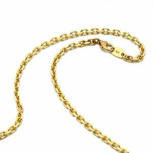 ネックレス チェーン 18金 イエローゴールド 4面カット小豆チェーン 幅3.3mm 長さ90cm|鎖 K18YG 18k 貴金属 ジュエリー レディース メンズ