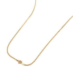 ネックレス チェーン 18金 イエローゴールド 4面カット小豆チェーン 幅1.5mm 長さ60cm|鎖 K18YG 18k 貴金属 ジュエリー レディース メンズ