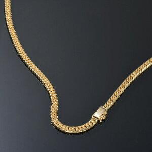 ネックレス チェーン 18金 イエローゴールド 6面カットダブル喜平チェーン 幅5.5mm 長さ50cm|鎖 K18YG 18k 貴金属 ジュエリー メンズ