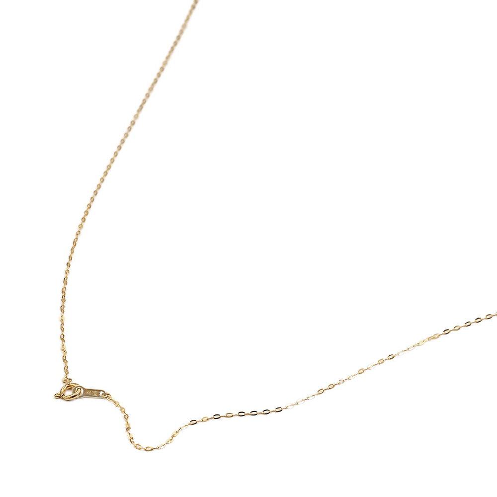 【18金イエローゴールド】小判みたいなチェーン・ネックレス(1.1mm/80cm)「鎖/K18YG/18k・貴金属ジュエリー」