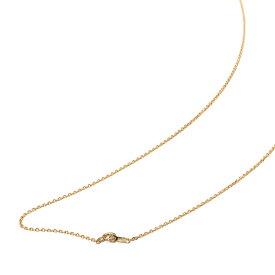 ネックレス チェーン 18金 イエローゴールド 4面カット小豆チェーン 幅1.2mm 長さ45cm|鎖 K18YG 18k 貴金属 ジュエリー レディース メンズ