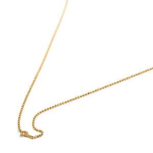 ネックレス チェーン 18金 イエローゴールド カットボールチェーン 幅1.5mm 長さ60cm 鎖 K18YG 18k 貴金属 ジュエリー レディース メンズ