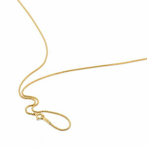 ネックレス チェーン 18金 イエローゴールド ベネチアンチェーン 幅1.0mm 長さ60cm|鎖 K18YG 18k 貴金属 ジュエリー レディース メンズ 母の日 プレゼント ギフト 無料ラッピング