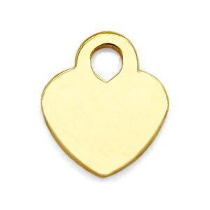 【1個売り】 チャームパーツ 18金 イエローゴールド プレートチャーム ハート型 縦2.0mm 横2.0mm|手芸用品 金具 飾り パーツ 部品 K18YG 18k 貴金属