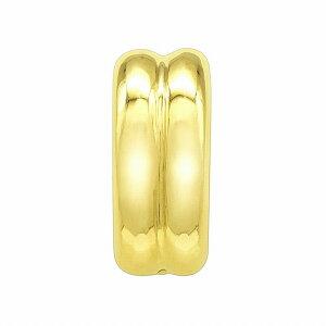【1個売り】 バチカン 18金 イエローゴールド 口開き丸カン付きバチカン 縦9.0mm 横3.8mm ペンダントトップ用|手芸用品 金具 飾り パーツ 部品 K18YG 18k 貴金属