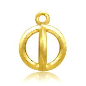 【1個売り】 チャームパーツ 18金 イエローゴールド カゴ型チャーム 縦6.5mm 横5.0mm 籠|手芸用品 金具 飾り パーツ 部品 K18YG 18k 貴金属