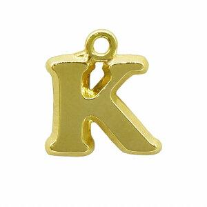 【1個売り】 チャームパーツ 18金 イエローゴールド K イニシャルチャーム Sサイズ 中空タイプ 縦8.5mm 横9.5mm アルファベット 文字|手芸用品 金具 飾り パーツ 部品 K18YG 18k 貴金属