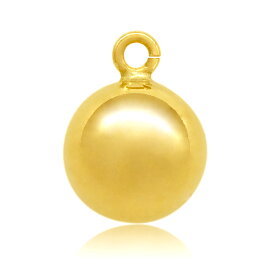 【1個売り】 チャームパーツ 18金 イエローゴールド 丸カン付きボール 直径3.0mm ボール玉 丸玉 球 手芸用品 金具 飾り パーツ 部品 K18YG 18k 貴金属