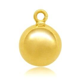 【1個売り】 チャームパーツ 18金 イエローゴールド 丸カン付きボール 直径4.0mm ボール玉 丸玉 球 手芸用品 金具 飾り パーツ 部品 K18YG 18k 貴金属