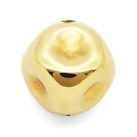 【1個売り】 ビーズパーツ 18金 イエローゴールド サイコロみたいなビーズ 外径5.0mm 高さ5.0mm 穴径0.6mm スペーサー さいころ 立方体 手芸用品 金具 飾り パーツ 部品 K18YG 18k 貴金属