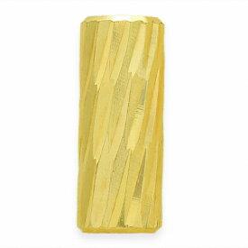 【1個売り】 ビーズパーツ 18金 イエローゴールド パイプ型 スラッシュカット 外径2.0mm 高さ5.0mm 穴径1.5mm スペーサー 筒型|手芸用品 金具 飾り パーツ 部品 K18YG 18k 貴金属