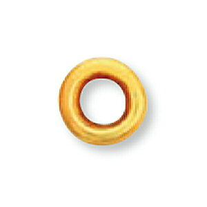 【1個売り】 石枠 18金 イエローゴールド ちょこ留め空枠 ダブルドーナツ型 5分石用 石座 台座 シャトン|手芸用品 金具 飾り パーツ 部品 K18YG 18k 貴金属