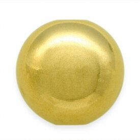 【1個売り】 ビーズパーツ 18金 イエローゴールド プレーン丸玉の穴あき貫通ビーズ 直径6.0mm スペーサー ボール玉|手芸用品 金具 飾り パーツ 部品 K18YG 18k 貴金属