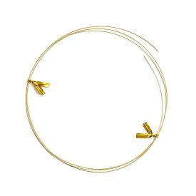 ワイヤーパーツ 18金 イエローゴールド 丸線ワイヤー 線径0.5mm 長さ50cm 針金 線材|手芸用品 金具 飾り パーツ 部品 K18YG 18k 貴金属