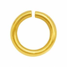 【1個売り】 丸カン 18金 イエローゴールド 丸環 線径0.9mm 直径6.0mm マルカン 手芸用品 金具 飾り パーツ 部品 K18YG 18k 貴金属