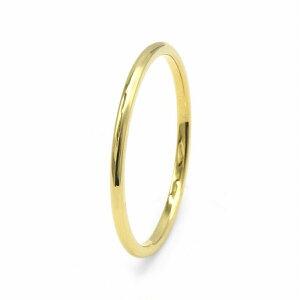 指輪 18金 イエローゴールド 甲丸リング 幅1.0mm ピンキーリングもございます 地金リング|K18YG 18k 貴金属 ジュエリー レディース メンズ