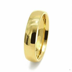 指輪 18金 イエローゴールド 甲丸リング 幅5.0mm ピンキーリングもございます 地金リング K18YG 18k 貴金属 ジュエリー レディース メンズ