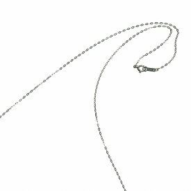 ネックレス チェーン PT850 プラチナ 小判みたいなチェーン 幅1.1mm 長さ40cm|鎖 850pt 貴金属 ジュエリー レディース メンズ