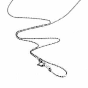 ネックレス チェーン PT850 プラチナ カットボールチェーン 幅0.8mm 長さ80cm|鎖 850pt 貴金属 ジュエリー レディース メンズ 母の日 プレゼント ギフト 無料ラッピング
